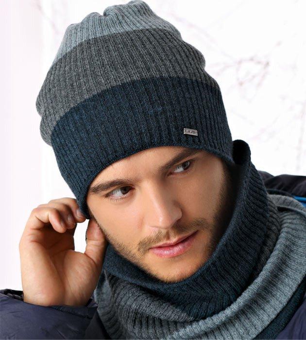 2fdd6a473ddaf1 Czapka i tuba zimowa męska, komplet, Ricardo, rozm. 56-60 cm