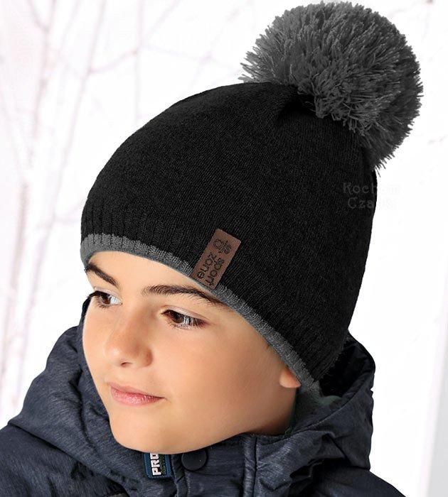 8c89855917bae3 Czapka zimowa chłopięca z pomponem Sport Zone rozm. 50-54 cm produkt ...