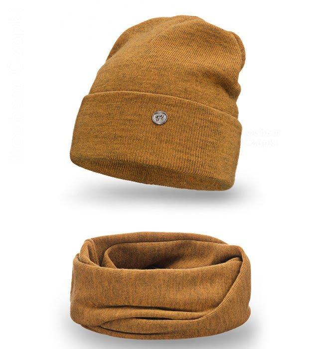 70b9c2e344df85 Musztardowy komplet czapka z kominem Hestat rozm. 55-58 Pamami | Sklep  Kocham Czapki