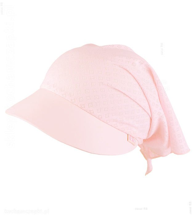przeciwsłoneczna chustka wiązana, dziewczynka, na lato, różowa