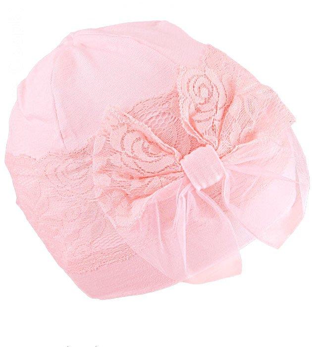 a827e8300a88bc Elegancka czapka dla dziewczynki Koronka rozm. 48-52 cm TuTu | Sklep ...