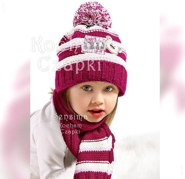 7c38508170d3de pol_pl_Czapka-zimowa-i-szalik-dla-dziewczynki-komplet -Niedzwiadek-50-53-cm-792_1.jpg