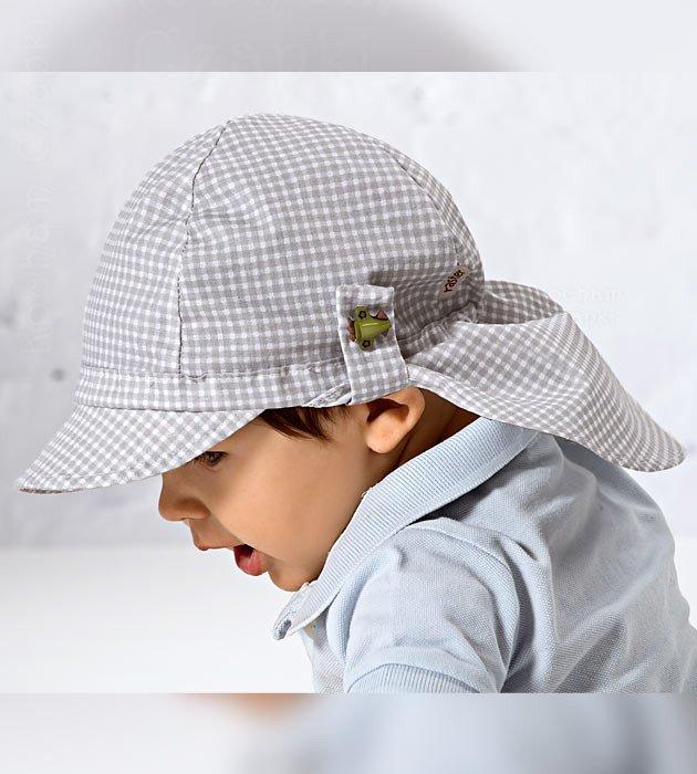 przeciwsłoneczna czapka typu safari, dla chłopca, na lato