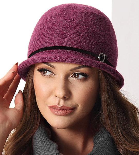 bordowy stylowy kapelusz damskie na jesień/zimę