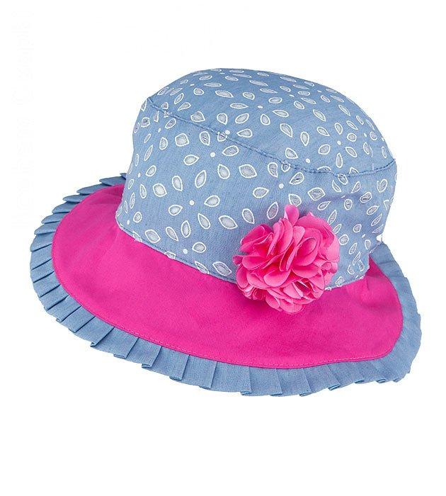 kapelusz dla dziewczynki na lato, niebieski