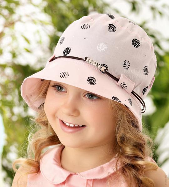 różowy kapelusz dla dziewczynki na lato, przeciwsłoneczny, z rondem, z gumką, dziewczynka w kapeluszu