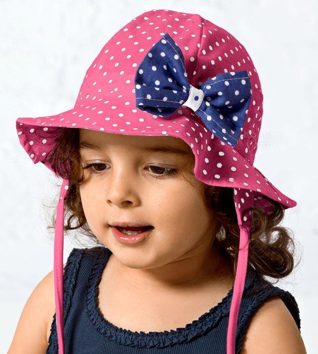kapelusz dla dziewczynki na lato, różowy