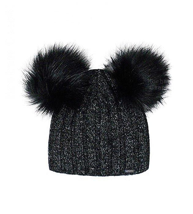 3a0c3ae395bc Modne czapki z dwoma pomponami zima 2019